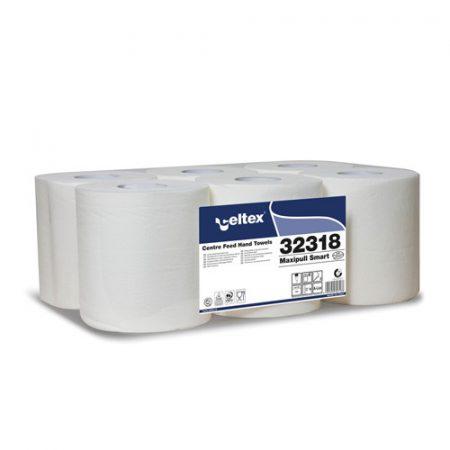 Celtex 32.318 Kéztörlő, MAXI, Center Maxi Tissue, 2 rétegű, 100% cell., belsőmag ad., 6tek/cs