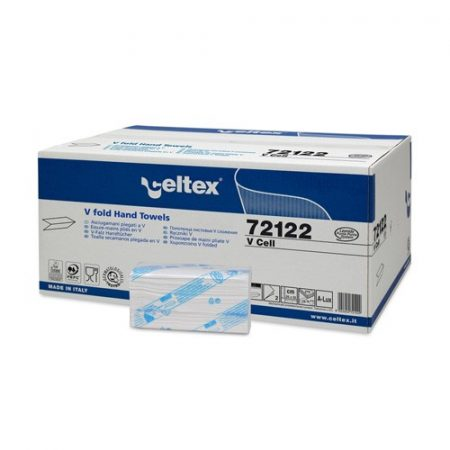 Celtex 72.122 Hajtogatott kéztörlő, 2 rétegű, 100% cel., 25x22, 15×210