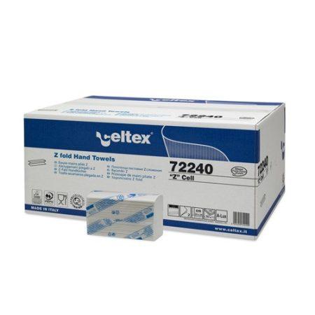 Celtex 72.240 Interfold hajtású kéztörlő, 2 rtg.,100% cell., 24×24, 25×150 (H2 rsz-rel kompatibilis)
