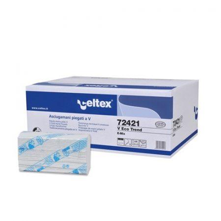 Celtex 72.421 Hajtogatott kéztörlő, 2 rétegű, 50% cell., 21,5x22, 15×210