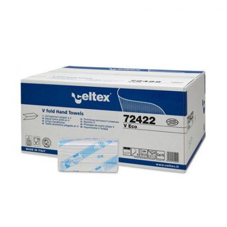 Celtex 72.422 Hajtogatott kéztörlő, 2 rétegű, 50% cell., 25x22, 15×210