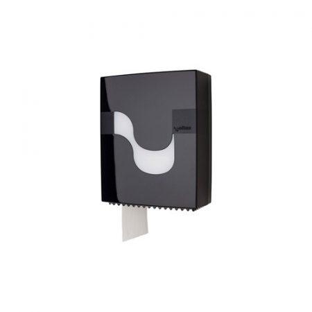 MEGAMINI Wc papír adagoló, Mini Jumbo, fekete