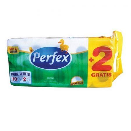 WC papír, Perfex kistekercses, 2 rétegű, 110 lapos, 120 tek/zsák