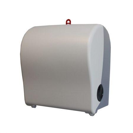 Hengeres kéztörlő adagoló, fehér, MATIC papírhoz (Autocut)