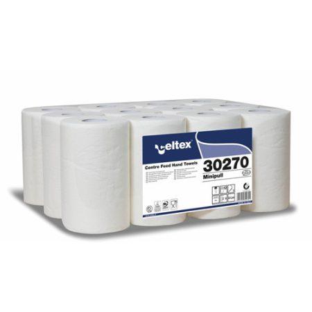 Celtex 30.270 Kéztörlő, MINI, Center Mini Tissue, 2 rtg 100% cell. belsőmag ad., d13,12 tek/cs
