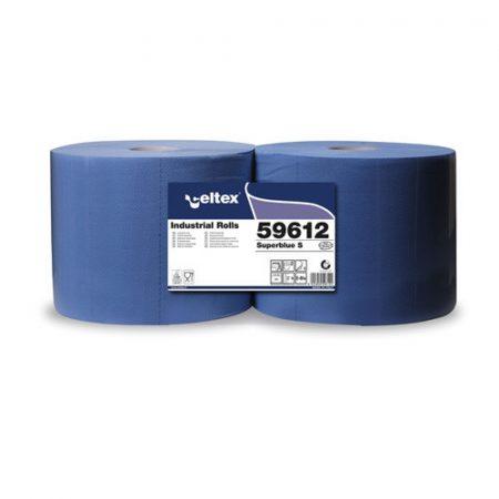 Celtex 59.612 Ipari törlőpapír, 3 rétegű, Cell-blue, 500 lap, kék, 22×36 cm, d=30
