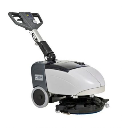 Nilfisk SC351 FULL PKG súroló-vízfelszívó padlótisztító akkuval, töltővel a szűk helyek gépi tiszításához