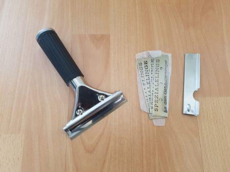 Pulex kaparó készlet (10 cm-es kaparó + 10 penge) nyéllel