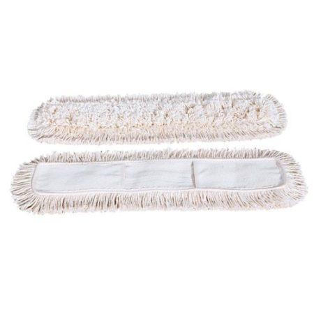 Pamut száraz zsebes mop, 100 cm